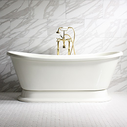 Christina All Bisque Pedestal Tub
