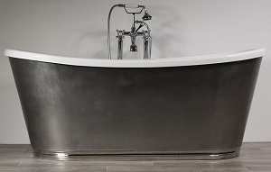 Capua Burnished Steel Skirted Bathtub